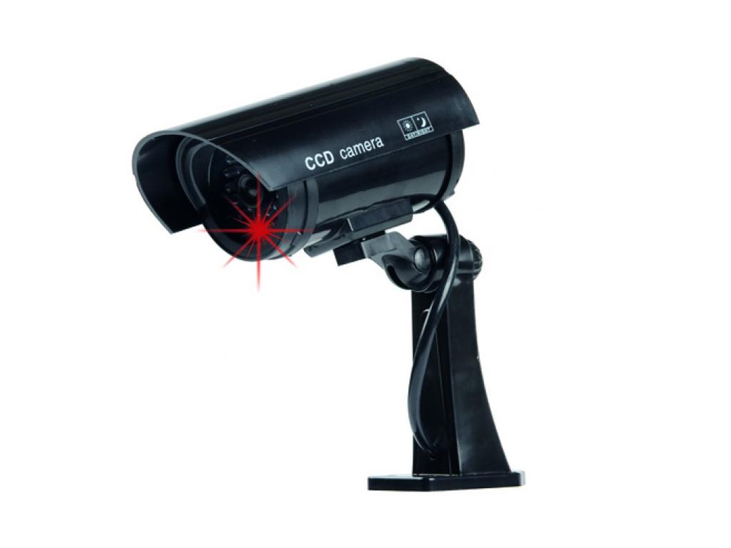 Ψεύτικη Ασύρματη Κάμερα Παρακολούθησης LED σε Μαύρο χρώμα, Dummy Security Camera αυτοματισμοί και ασφάλεια   κάμερες