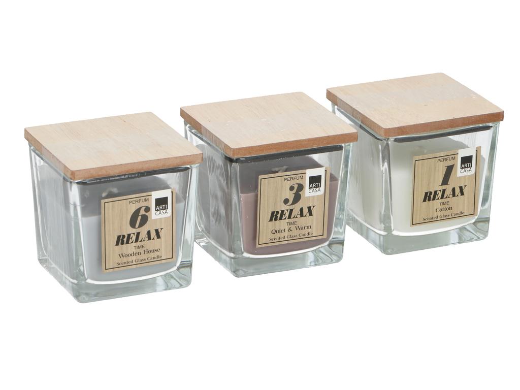 Αρωματικά Κεριά Χώρου σε Γυάλινη Βάση, 165g, 8x8cm, Candle in glass Arti Casa 87 διακόσμηση και φωτισμός   αρωματικά χώρου