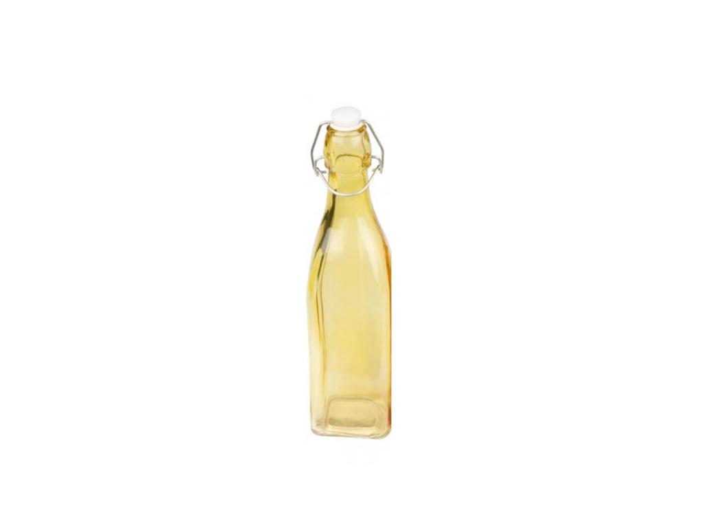 Γυάλινο Μπουκάλι για Λάδι/Ξύδι 500ML με Καπάκι Ασφαλείας σε διάφορα χρώματα, 27x6,5x6,5cm, Cb 54538 Κίτρινο - Cb