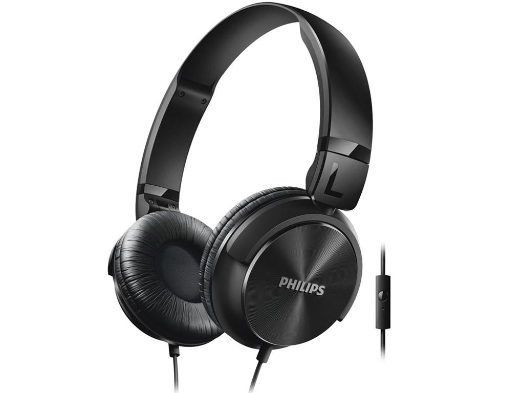 Philips Αναδιπλούμενα Στερεοφωνικά Ακουστικά με Μικρόφωνο σε Μαύρο χρώμα, SHL306 τηλεφωνία και tablets   ακουστικά με μικρόφωνο