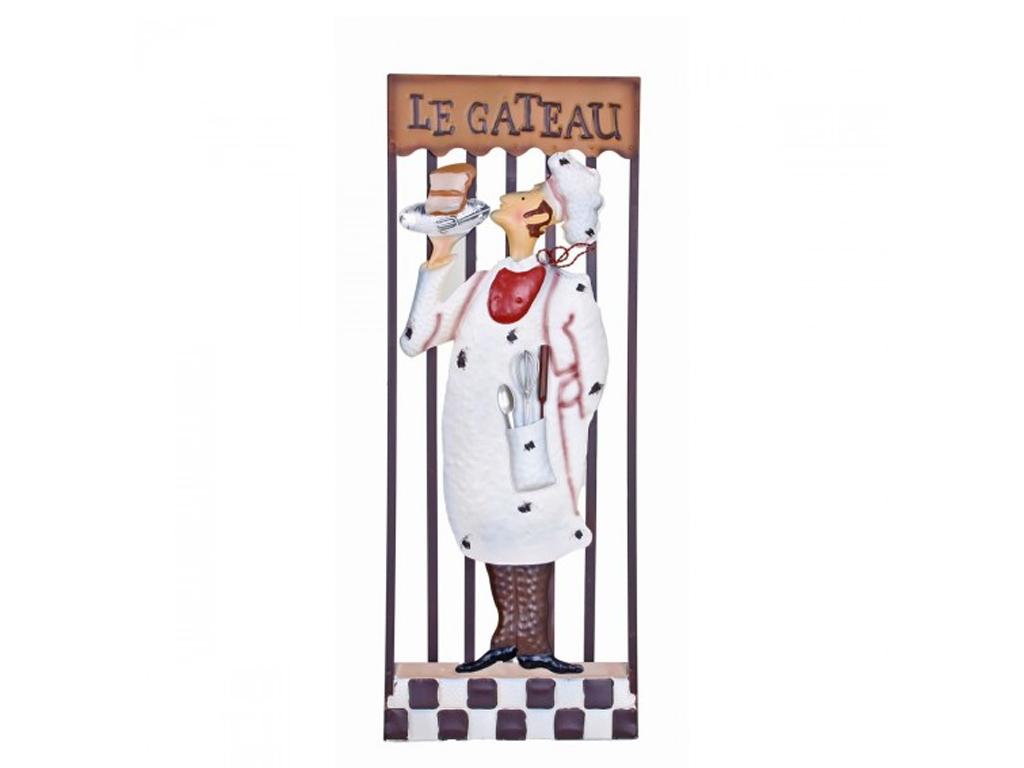 Διακοσμητική Μεταλλική Πινακίδα για τον Τοίχο, την Κουζίνα με θέμα Le Gateau, 28 διακόσμηση και φωτισμός   διακοσμητικά τοίχου
