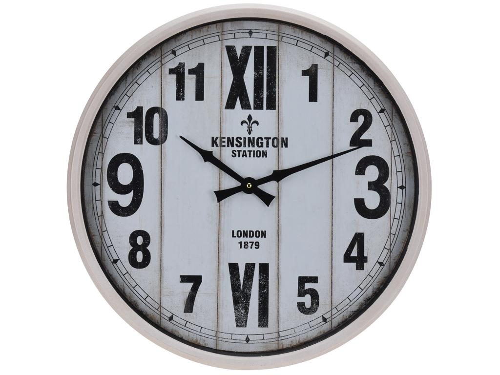 Αναλογικό Vintage Ρολόι Τοίχου ΓΙΓΑΣ 51CM με Λευκή Κάσα, Μαύρους Δείκτες και Μαύρες Ενδείξεις, Y36200270 - Cb