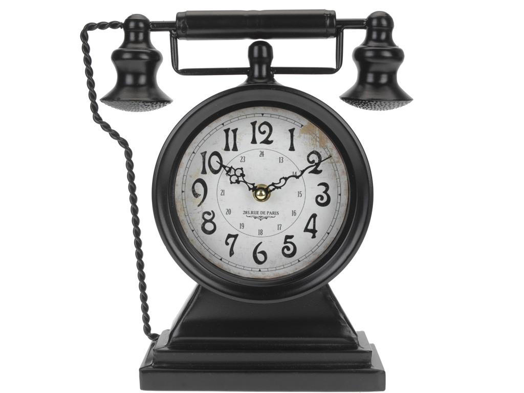 Vintage Επιτραπέζιο Αναλογικό Ρολόι σε σχήμα τηλεφώνου, 18x8x30cm, Y36400380 Μαύ διακόσμηση και φωτισμός   ρολόγια τοίχου  επιτραπέζια και επιδαπέδια ρολόγια