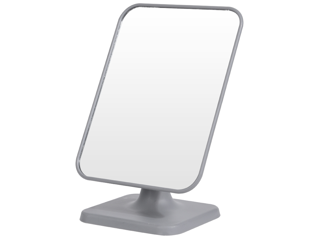 Καθρέφτης Μακιγιάζ Τετράγωνος με βάση σε Μαύρο χρώμα, 14x19cm, 101000350 Γκρι - Cb