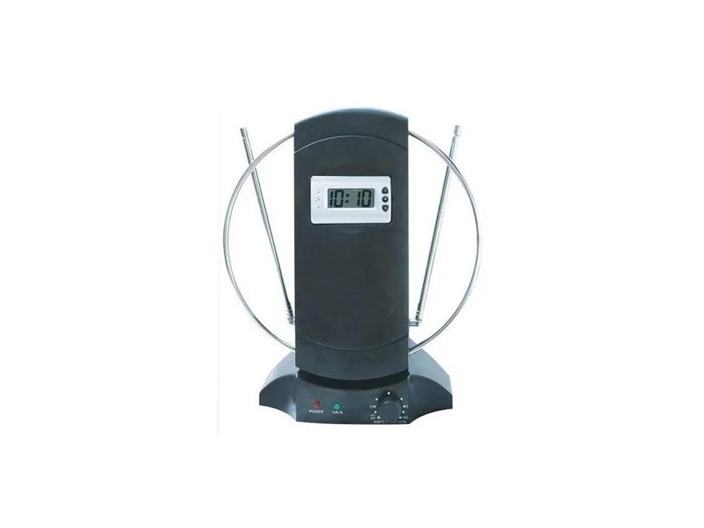 Εσωτερική Ψηφιακή Αναλογική Κεραία TV/HDTV με Ενισχυτή και Ψηφιακό Ρολόι, TA-029 ηλεκτρονικά   αξεσουάρ τηλεοράσεων