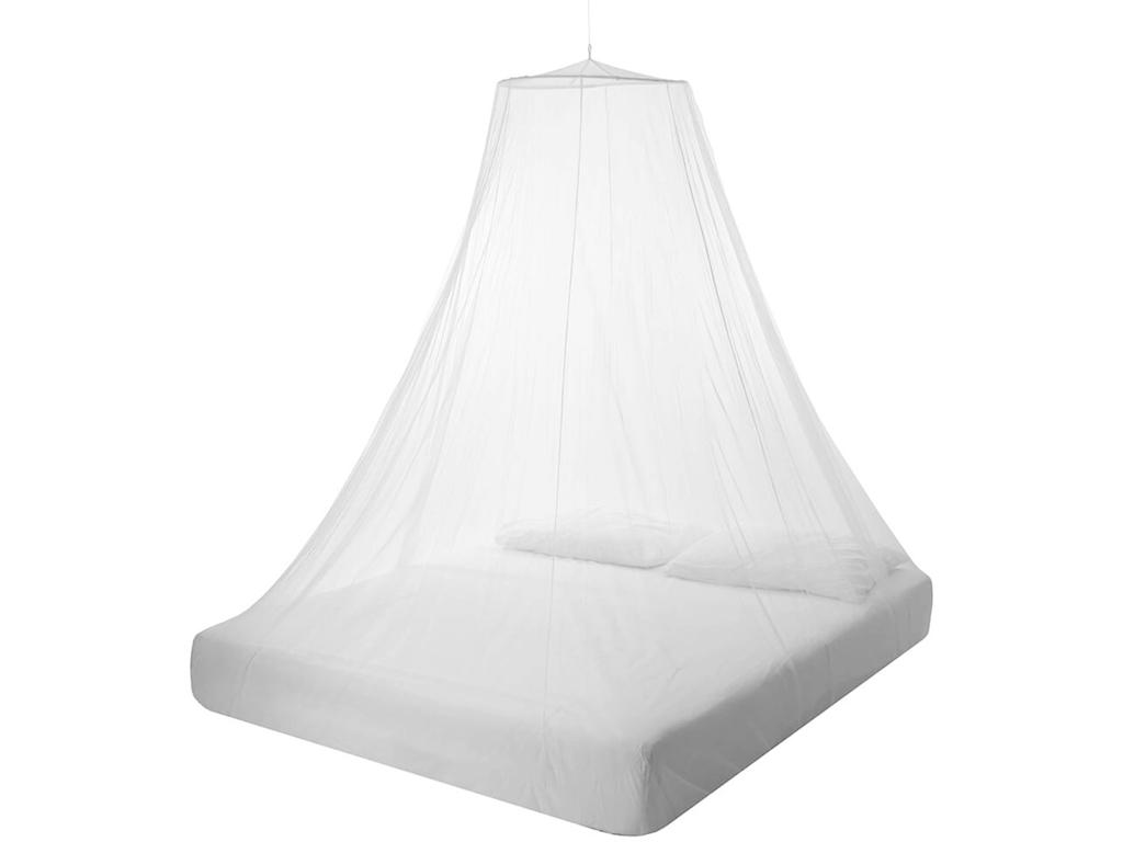 Κουνουπιέρα για Διπλό Κρεβάτι με Στεφάνι και Γάντζο σε Λευκό χρώμα, 60x250x1200cm, 22567 - Cb