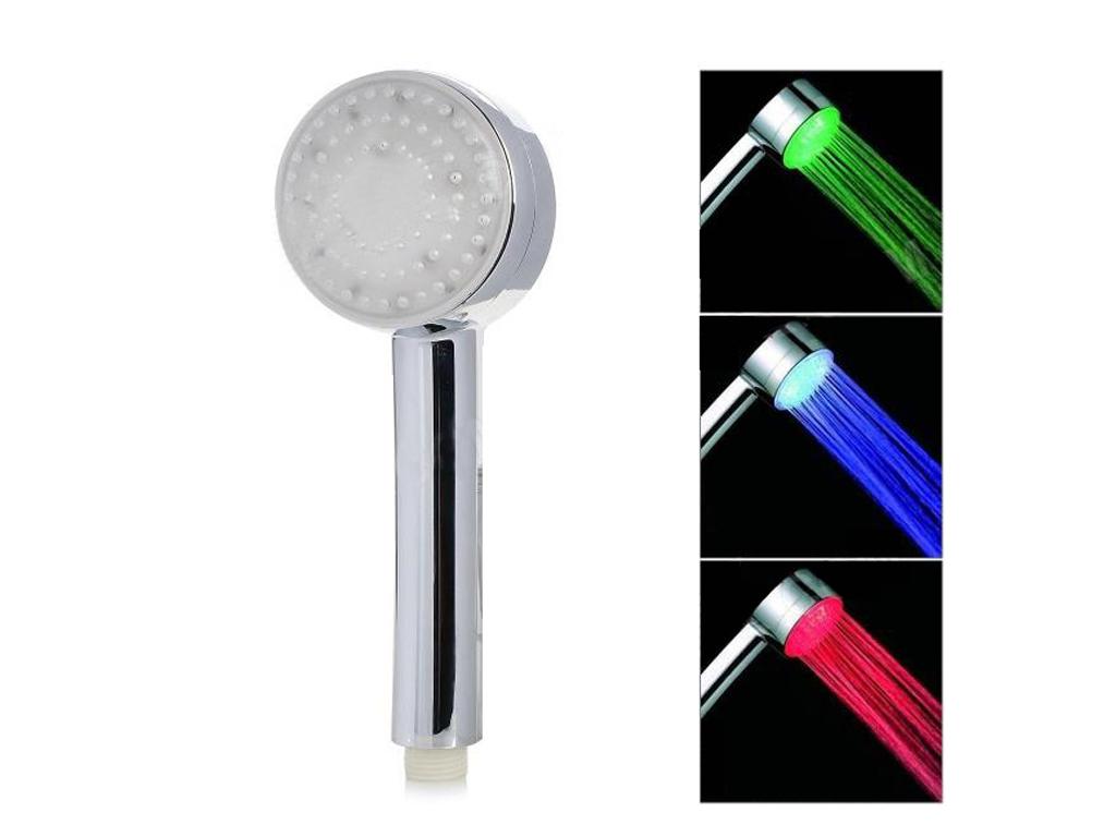 Φωτιζόμενο Τηλέφωνο Ντους LED με Αισθητήρα Θερμοκρασίας Νερού SR8 - CARDSHARP μπάνιο   μπαταρίες τηλέφωνα μπάνιου