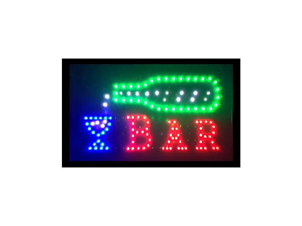 """Φωτιζόμενη Πινακίδα Επιγραφή LED με Κίνηση με θέμα """"Βar"""" - Cb διακόσμηση και φωτισμός   διακοσμητικά τοίχου"""