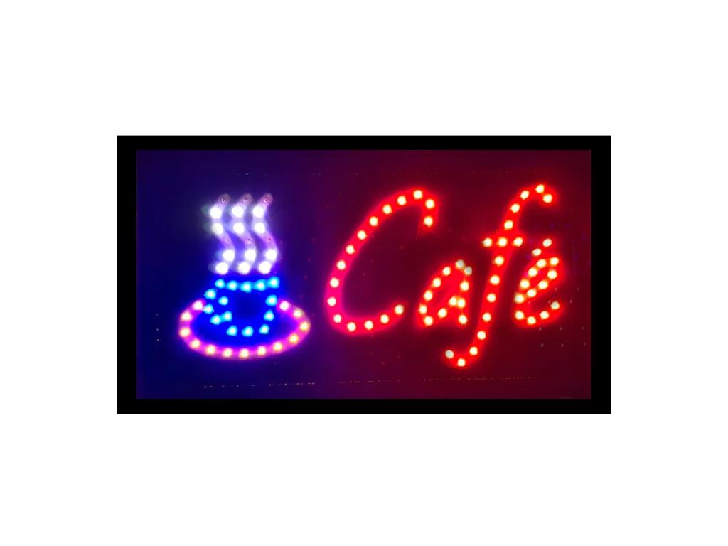 """Φωτιζόμενη Πινακίδα Επιγραφή LED με Εφέ Κίνησης με θέμα """"Cafe"""" - Cb διακόσμηση και φωτισμός   διακοσμητικά τοίχου"""