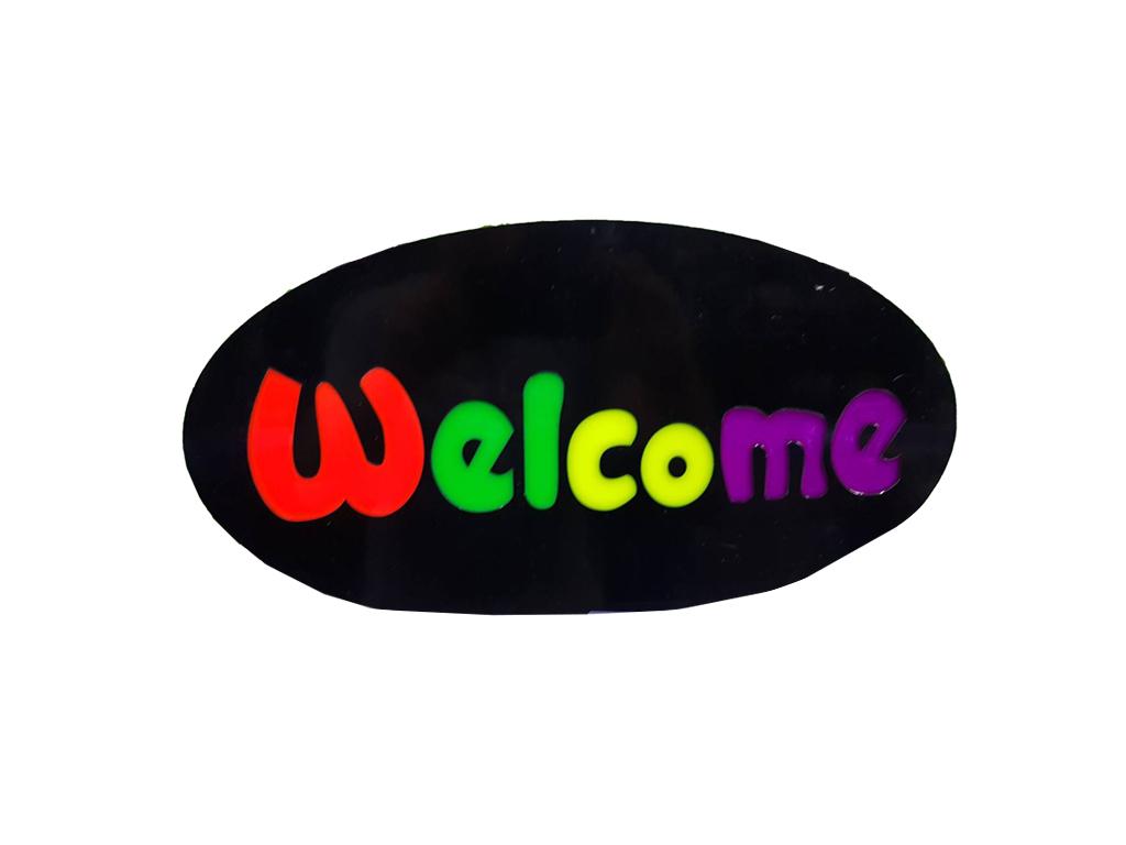 """Φωτιζόμενη Πινακίδα Επιγραφή LED με θέμα """"WELCOME"""" - Cb διακόσμηση και φωτισμός   διακοσμητικά τοίχου"""
