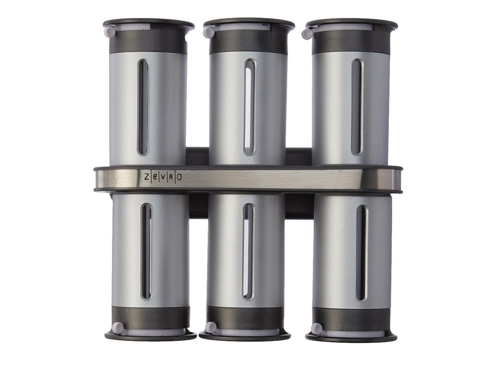 Σετ βαζάκια μπαχαρικών 6 τεμαχίων με μαγνητική βάση και αεροστεγές κλείσιμο, KCH αξεσουάρ και εργαλεία κουζίνας   βαζάκια και θήκες μπαχαρικών