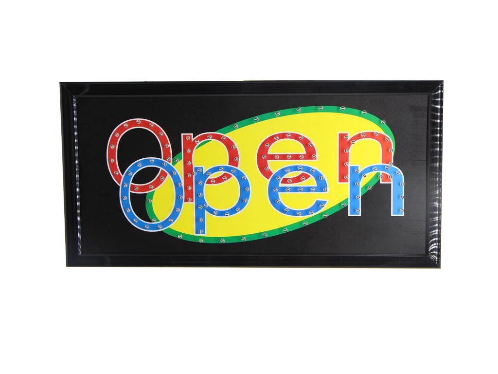 """Φωτιζόμενη Διαφημιστική Πινακίδα """"OPEN"""" με Εφέ Κίνησης, Extra Bright - Cb διακόσμηση και φωτισμός   διακοσμητικά τοίχου"""