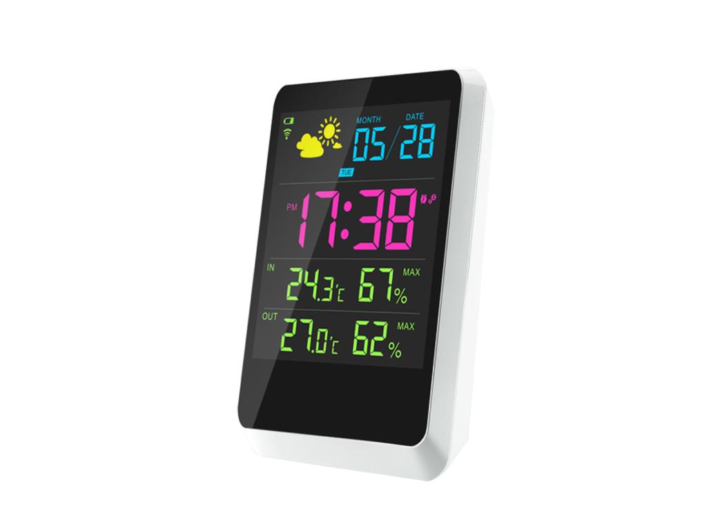 Ασύρματος Μετεωρολογικός Σταθμός με Ρολόι Ξυπνητήρι, Haptime YGH-391 - Cb