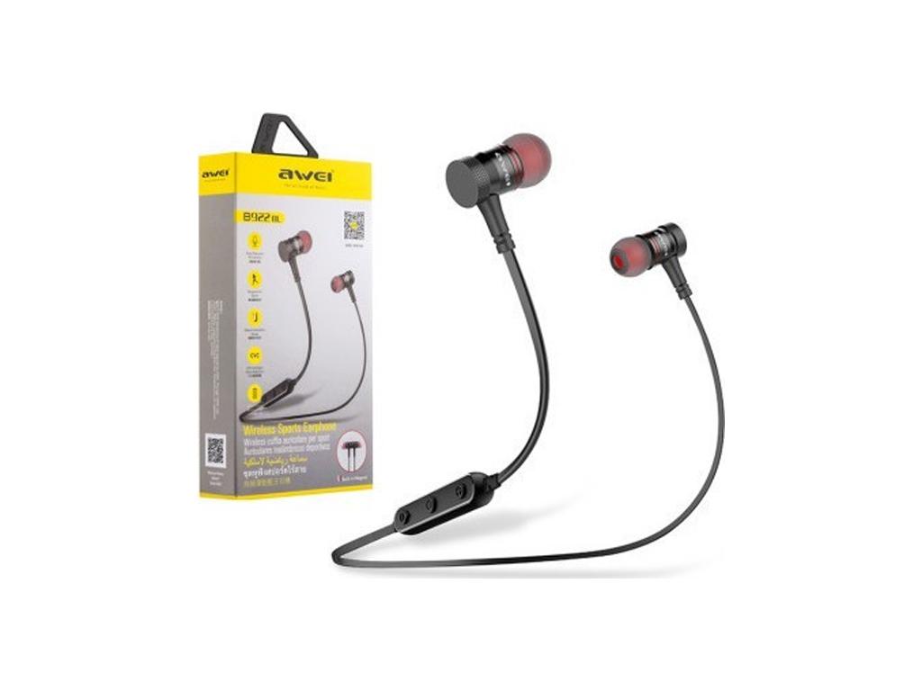 Ασύρματα Ακουστικά Bluetooth με Μαγνήτη και Μικρόφωνο σε Χρώμα Μαύρο, Awei B922B τηλεφωνία και tablets   bluetooth ακουστικά με μικρόφωνο