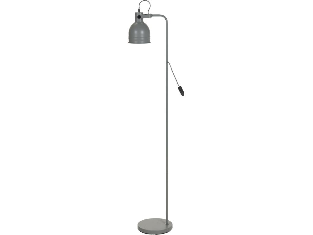Μεταλλικό Φωτιστικό Δαπέδου E27 ύψους 136cm με Διακόπτη, CX8200060 Γκρι - Cb διακόσμηση και φωτισμός   φωτιστικά