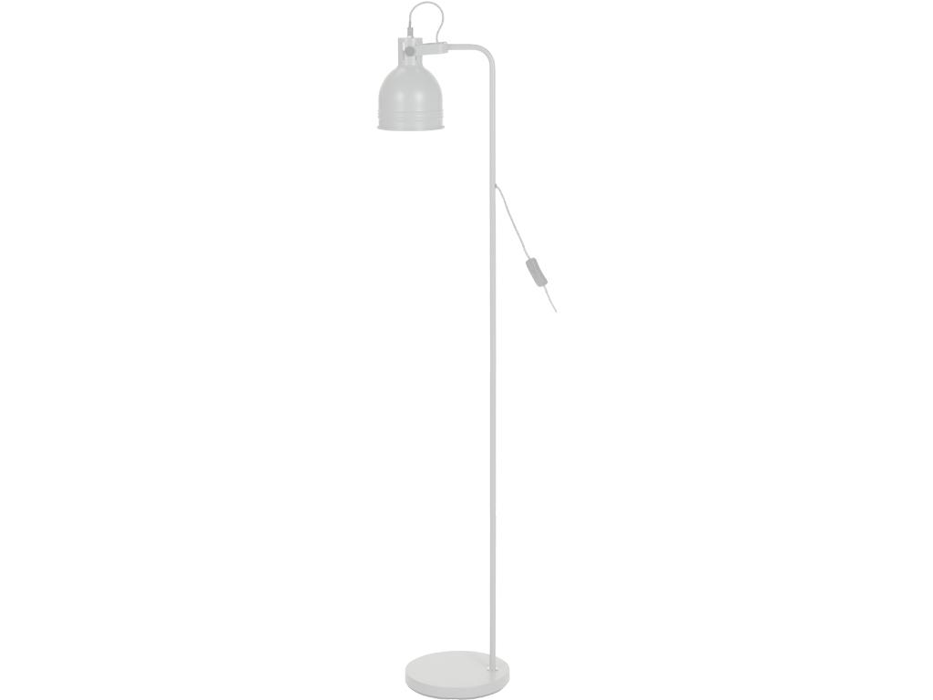 Μεταλλικό Φωτιστικό Δαπέδου E27 ύψους 136cm με Διακόπτη, CX8200060 Λευκό - Cb διακόσμηση και φωτισμός   φωτιστικά