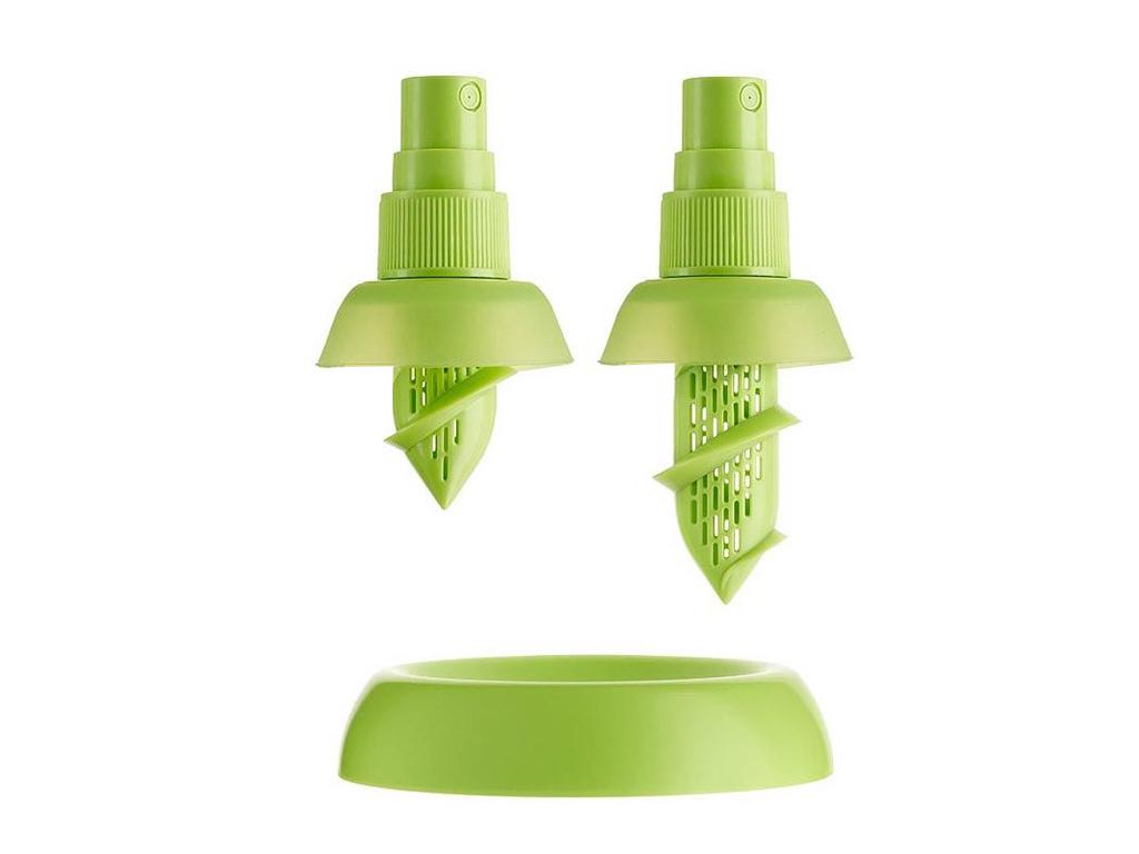 2 spray λεμονιού (μικρό & μεγάλο) & 1 βάση στήριξης! Χρώμα Πράσινο - TV αξεσουάρ και εργαλεία κουζίνας   άλλα αξεσουάρ κουζίνας
