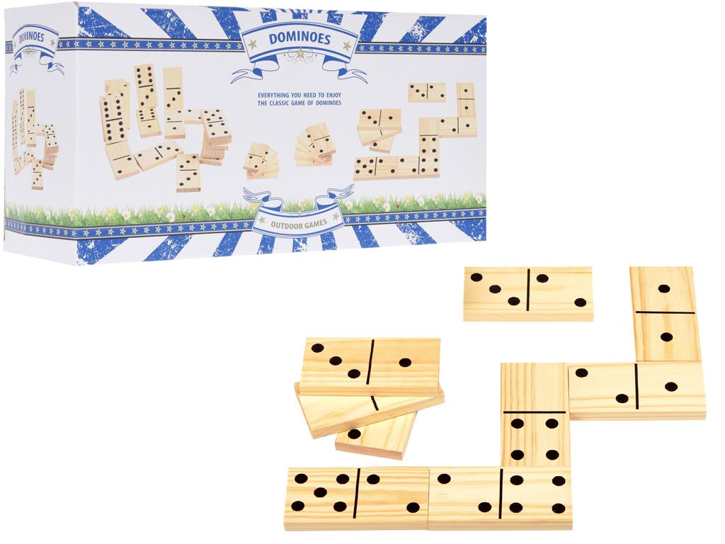 Επιτραπέζιο Παιχνίδι Ξύλινο Ντόμινο 28 τεμάχια, Domino Outdoor Games S28100050 - παιχνίδια   επιτραπέζια παιχνίδια