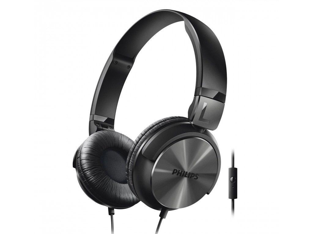 Philips Αναδιπλούμενα Στερεοφωνικά Ακουστικά με Μικρόφωνο σε Μαύρο χρώμα, SHL316 τηλεφωνία και tablets   ακουστικά με μικρόφωνο
