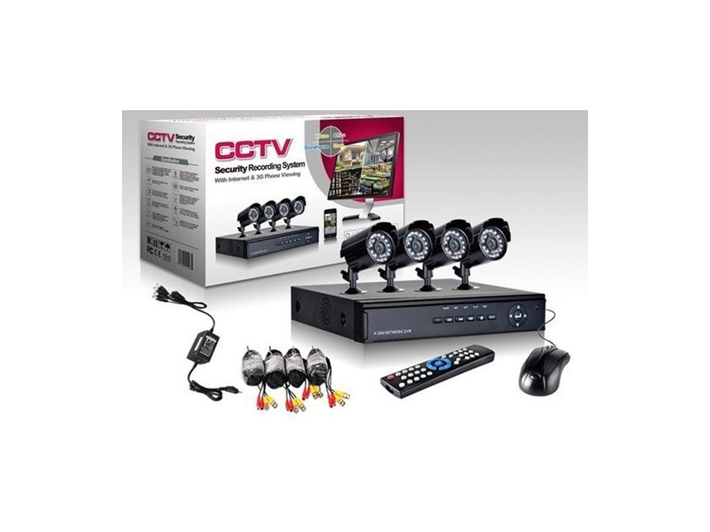 Σετ Καταγραφικό δικτύου με 4 Καμερες για Εποπτεία και Καταγραφής χώρου CCTV Secu αυτοματισμοί και ασφάλεια   κάμερες
