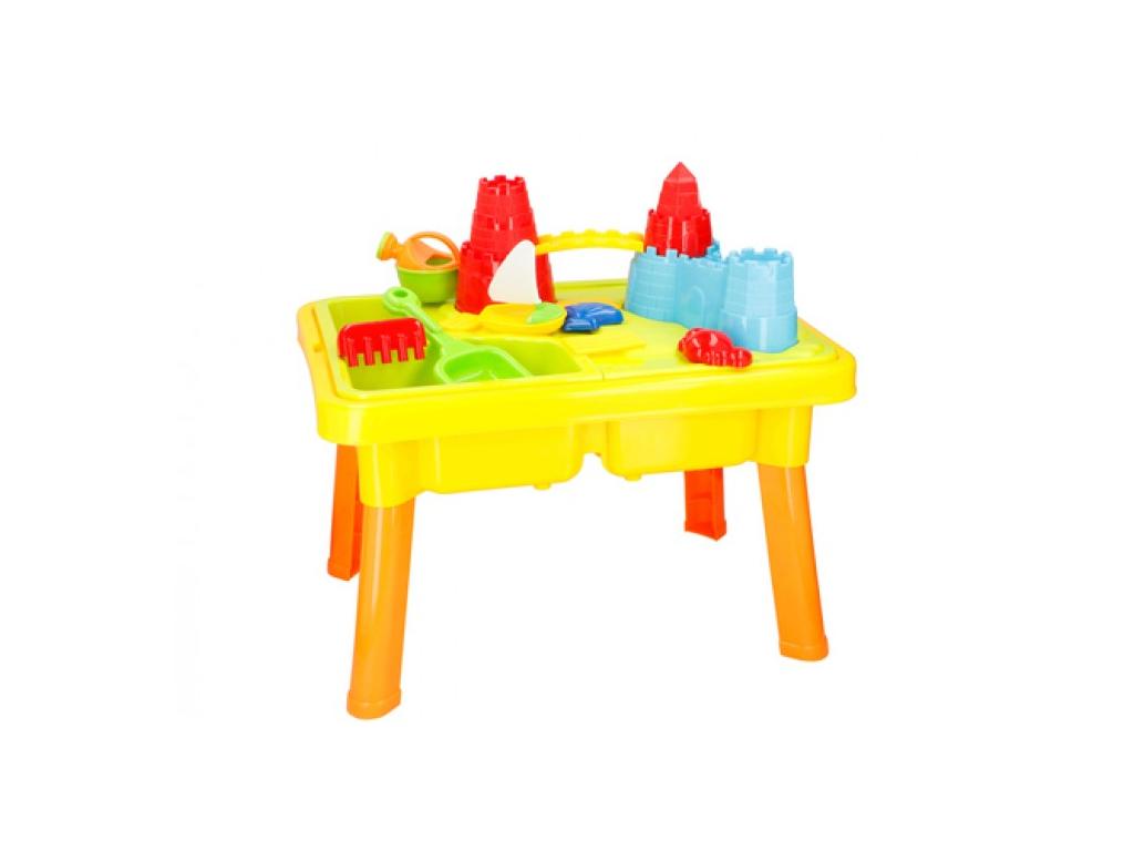 Παιδικό Τραπέζι 2 σε 1 για Άμμο και Νερό 21 τεμαχίων για ατελείωτες ώρες Παιχνιδιού, 59x42x37cm, Eddy Toys 04812 - Eddy Toys