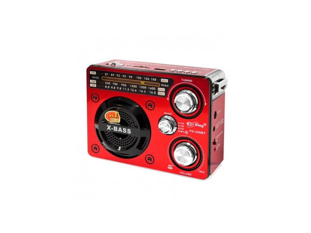 Φορητό USB/SD Mp3 Player Multimedia Speaker, FM Radio & Φακός LED X-Bass , PX-24 ήχος   radio cd