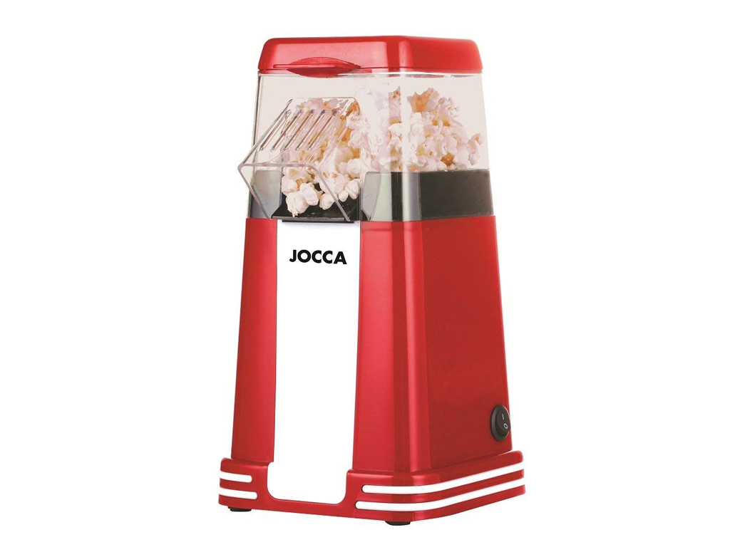 Συσκευή Παρασκευής Πόπ Κόρν 1200W Pop Corn Maker Retro σε Κόκκινο χρώμα, 15.5x10 ηλεκτρικές οικιακές συσκευές   παρασκευαστές ποπ κορν