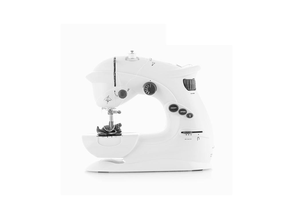 Ραπτομηχανή Συμπαγής Sewing machine 6V 1000 mA με 2 ταχύτητες και LED σε Λευκό χρώμα, 26x23x12cm, Innovagoods V0100517 - InnovaGoods