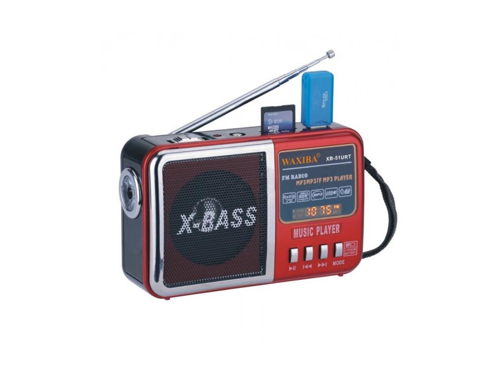 Επαναφορτιζόμενο Ραδιόφωνο - Multimedia Player Speaker 8W - Φακός LED - WAXIBA X ήχος   bluetooth και μικρά ηχεία