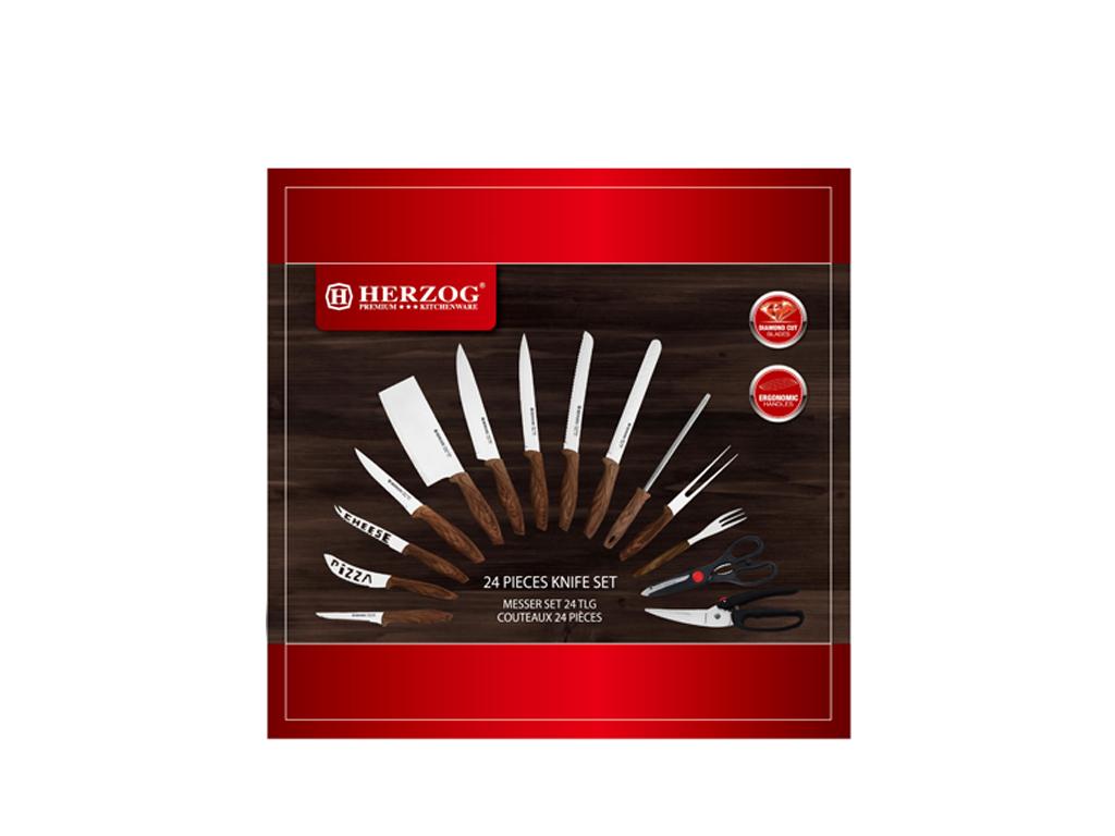 Σετ Μαχαίρια Κουζίνας ανωτέρας ποιότητας 24 τεμαχίων από Ανοξείδωτο Ατσάλι με Ξύ αξεσουάρ και εργαλεία κουζίνας   μαχαίρια κουζίνας