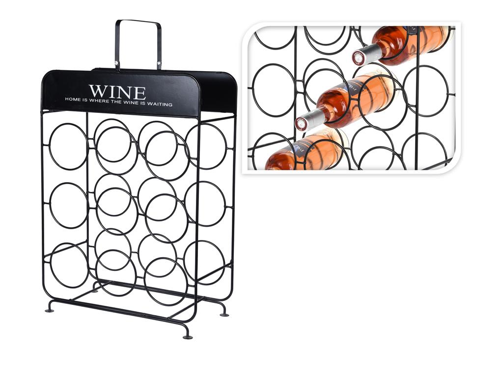 Μεταλλική Βαση Στήριξης Κρασιών, Μπουκαλοθήκη, Κάβα κρασιών 9 θέσεων σε τετράγων κουζίνα   αξεσουάρ και έπιπλα αποθήκευσης κρασιών