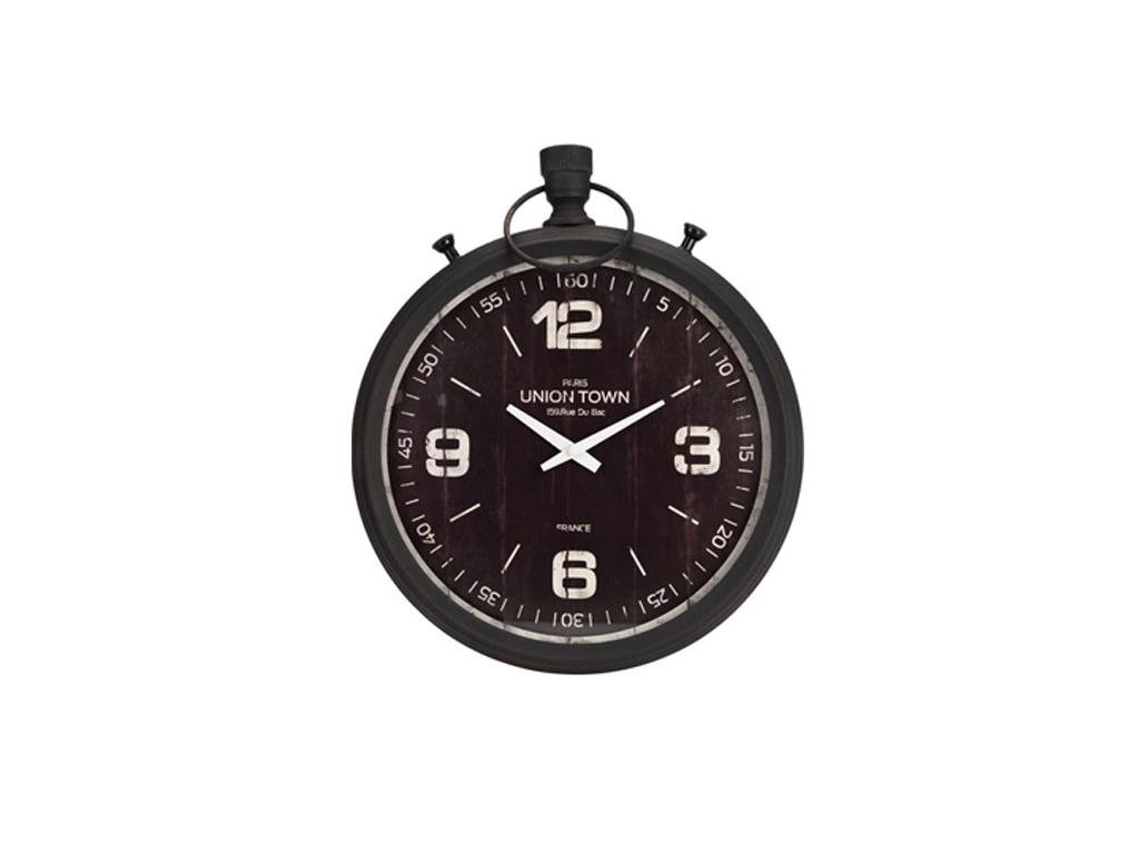 Μεταλλικό Διακοσμητικό Ρολόι Τοίχου 47cm, διαθέσιμο σε 2 αποχρώσεις, HZ1800650 Μ διακόσμηση και φωτισμός   ρολόγια τοίχου  επιτραπέζια και επιδαπέδια ρολόγια