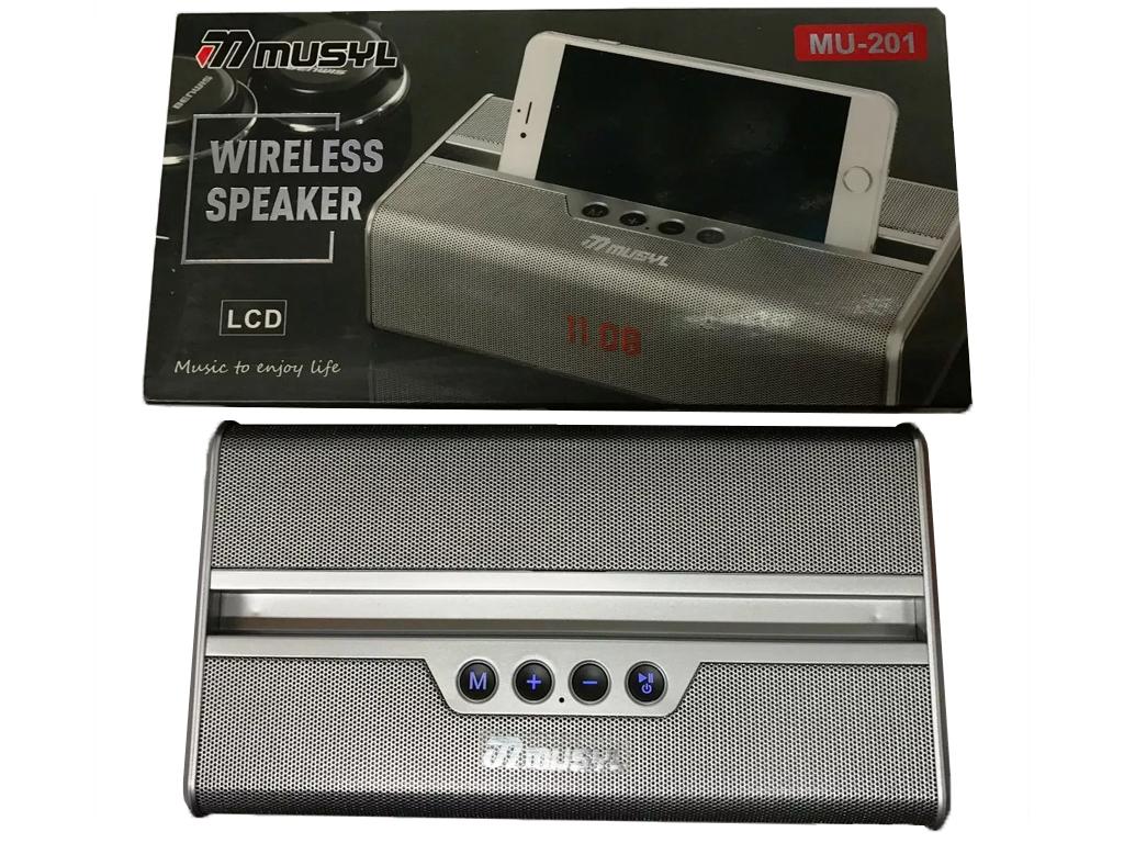 Φορητό Επαναφορτιζόμενο Ηχείο Bluetooth με Ραδιόφωνο AM/FM, USB/TF/MP3/AUX με LC ήχος   bluetooth και μικρά ηχεία