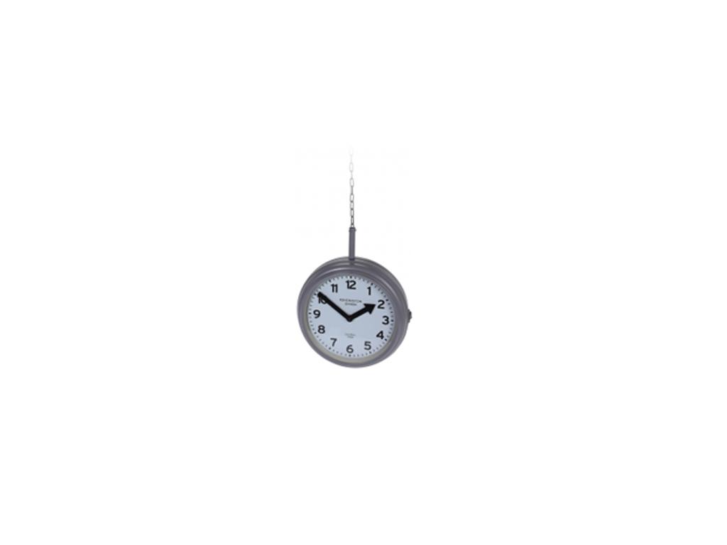Διακοσμητικό Κρεμαστό Μεταλλικό Ρολόι κατάλληλο για εξωτερική διακόσμηση, διαθέσιμο σε 3 χρωματισμούς, C37163110 Γκρι - Cb