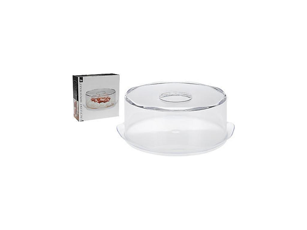 Τουρτιέρα 35cm με Καπάκι, Excellent Houseware 1310197 - Excellent Houseware σερβίρισμα   δίσκοι  πιατέλες και ορντεβιέρες