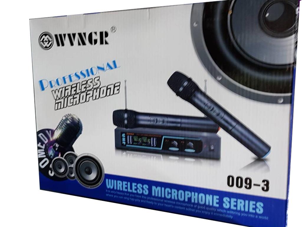 Συσκευή με 2 ασύρματα μικρόφωνα για Karaoke Καραόκε, WVNGR 009-3 - WVNGR εκδηλώσεις και γιορτές   καραόκε