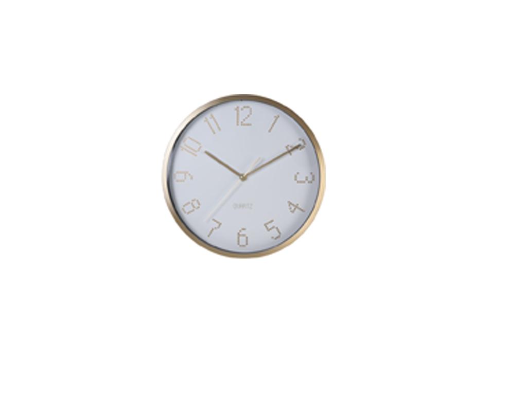 Διακοσμητικό Μεταλλικό Ρολόι Τοίχου 30cm, με μεταλλικούς δείκτες σε 3 αποχρώσεις διακόσμηση και φωτισμός   ρολόγια τοίχου  επιτραπέζια και επιδαπέδια ρολόγια