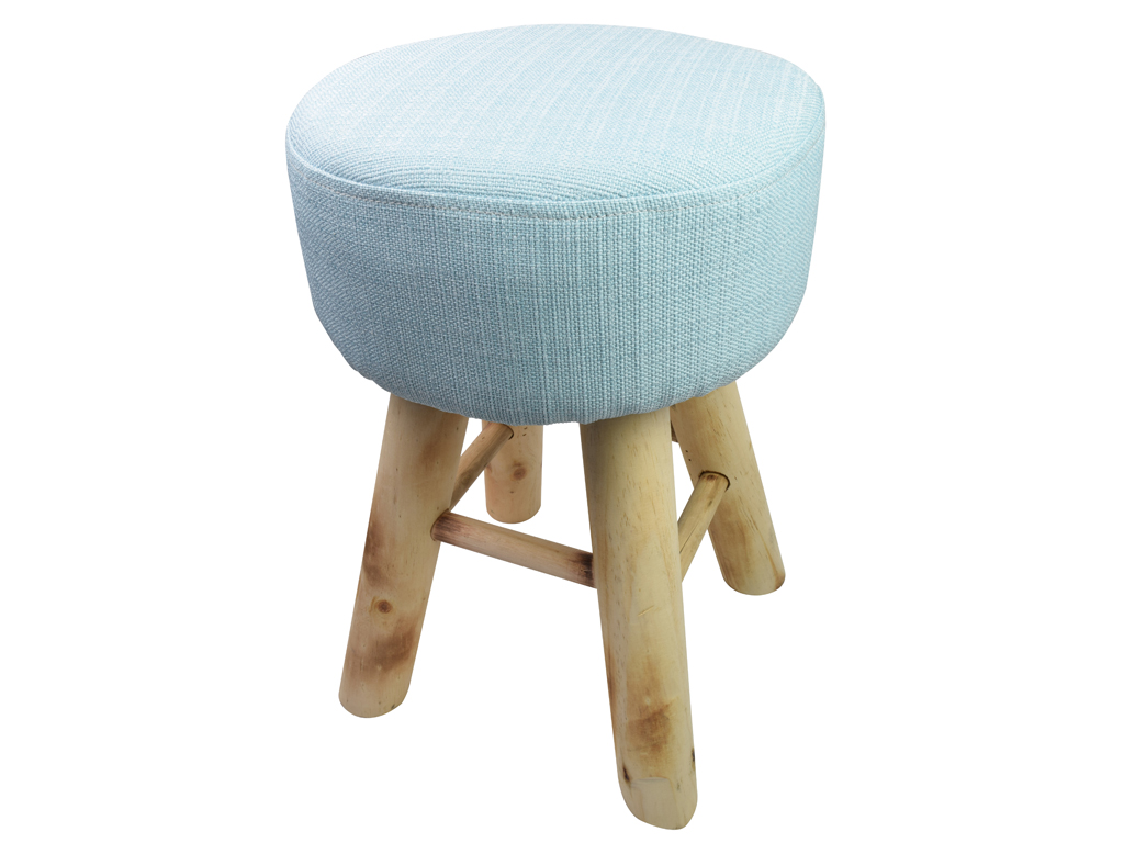 04aba5174e8 Ξύλινο Σκαμνί Σκαμπό με Υφασμάτινο Κάθισμα σε Μπλε χρώμα, 30x30x40cm, Arti  Casa 05740 | Πουφ και Σκαμπό - hellas-tech.gr