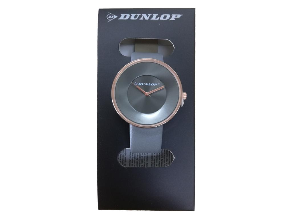 Dunlop Γυναικείο Αναλογικό Ρολόι Χειρός με Γκρι Καντράν, Rosegold Κάσα, Rosegold ρολόγια χειρός   γυναικεία ρολόγια χειρός