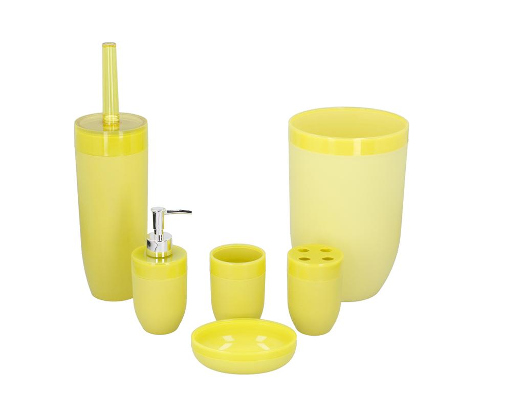 Σετ Μπάνιου 6 τεμαχίων με Κάδο Aπορριμάτων, Πιγκάλ, Ποτήρι, Dispenser Σαπουνιού, μπάνιο   πιγκάλ
