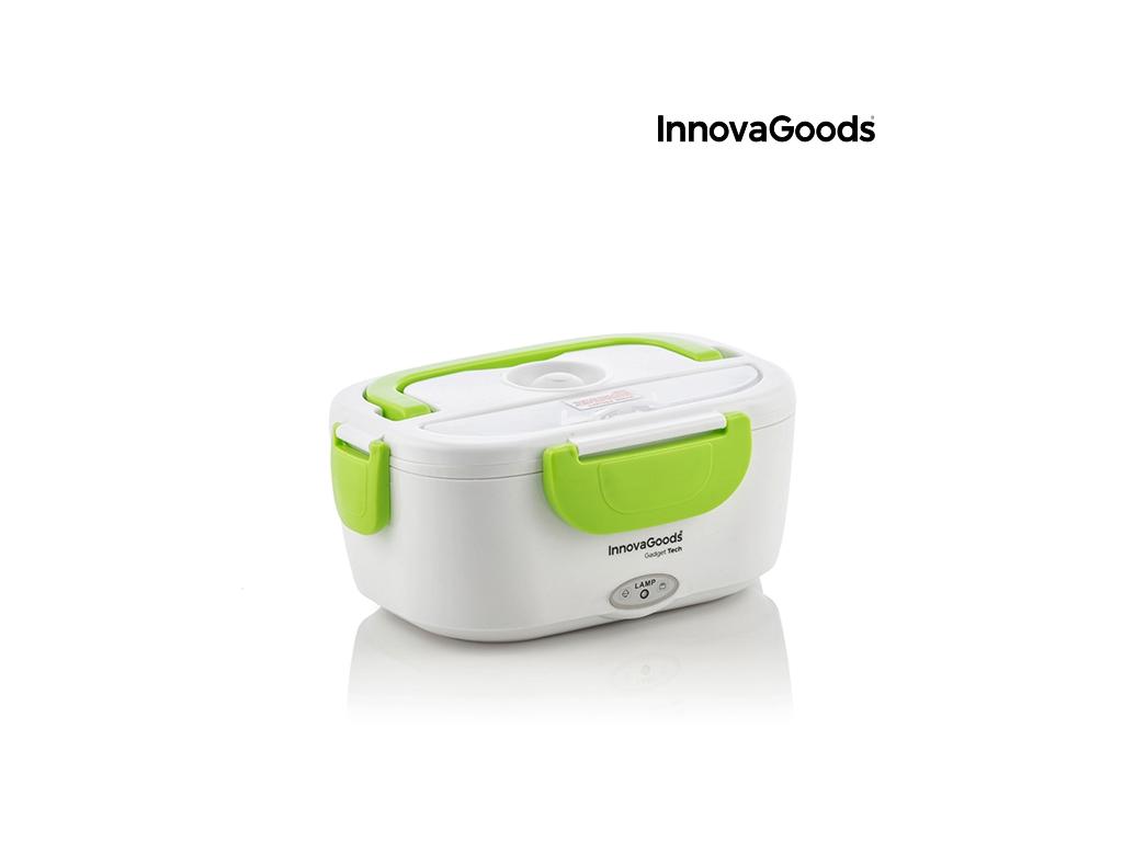 Θερμαινόμενο Φαγητοδοχείο Ηλεκτρικό Τάπερ Γεύματος 40W χωρητικότητας 1.05 Lt με λαβή και αφαιρούμενο εσωτερικό δοχείο σε Λευκό / Πράσινο χρώμα, Innovagoods V0100814 - InnovaGoods