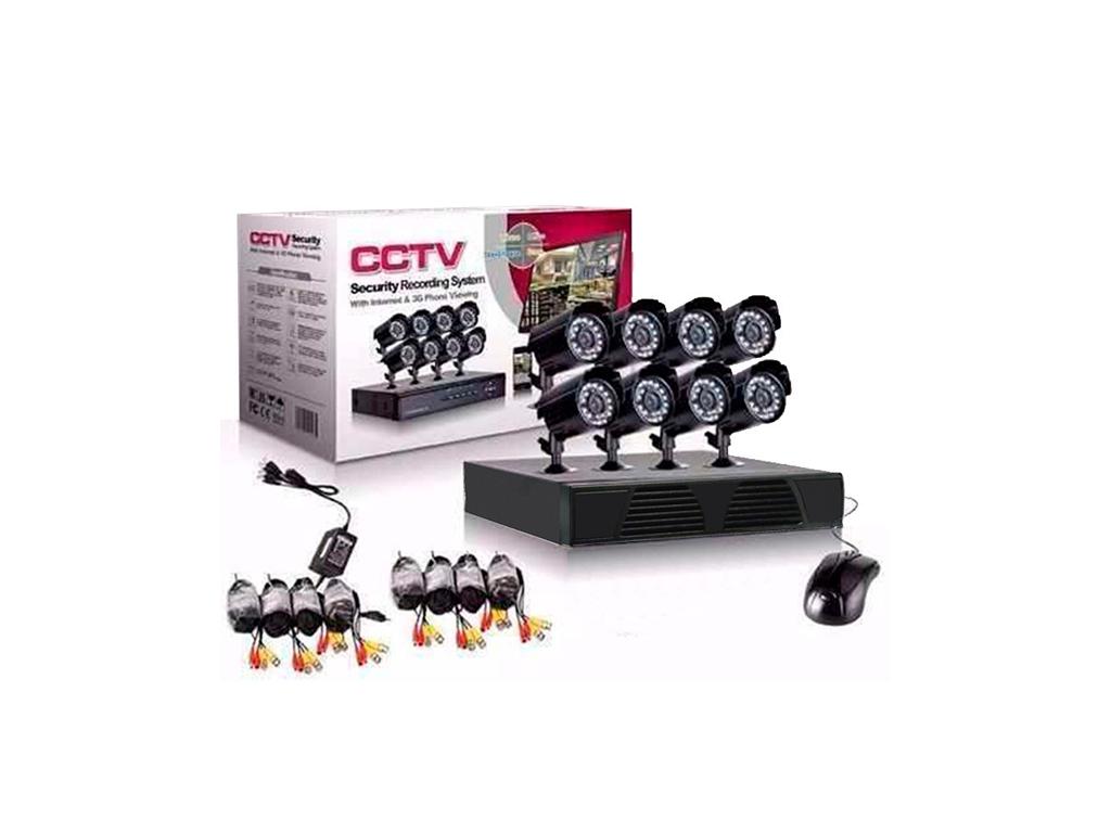 Σετ Καταγραφικό δικτύου με 8 Καμερες για Εποπτεία και Καταγραφής χώρου CCTV Secu αυτοματισμοί και ασφάλεια   κάμερες