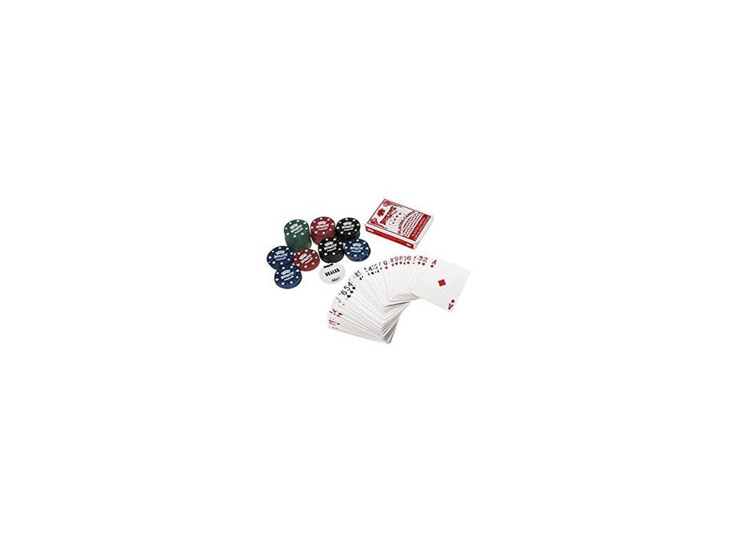 Σετ Πόκερ Ταξιδίου 100 Μάρκες, 2 Τράπουλες και τσόχα, Poker Game - OEM ταξίδι και αναψυχή   τυχερά παιχνίδια