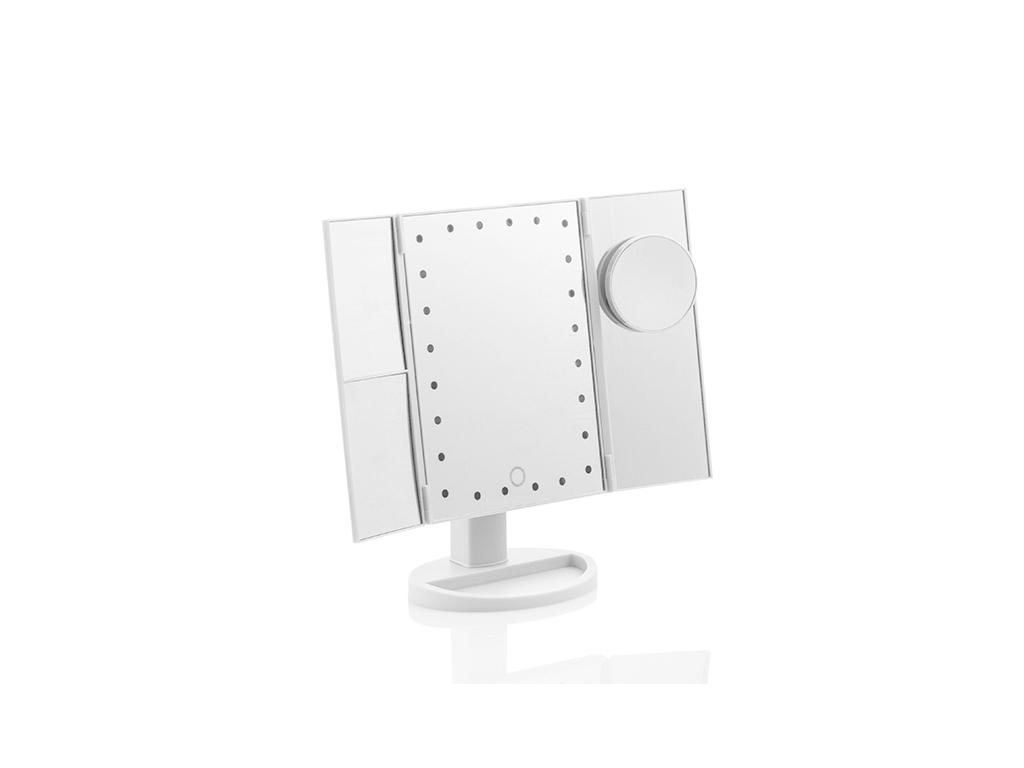 Τριπλός Μεγεθυντικός Καθρέφτης LED 4 σε 1 για μακιγιάζ με Ανάκληση έως 360º και Κουμπί αφής για ενεργοποίηση, InnovaGoods V0100904 - InnovaGoods