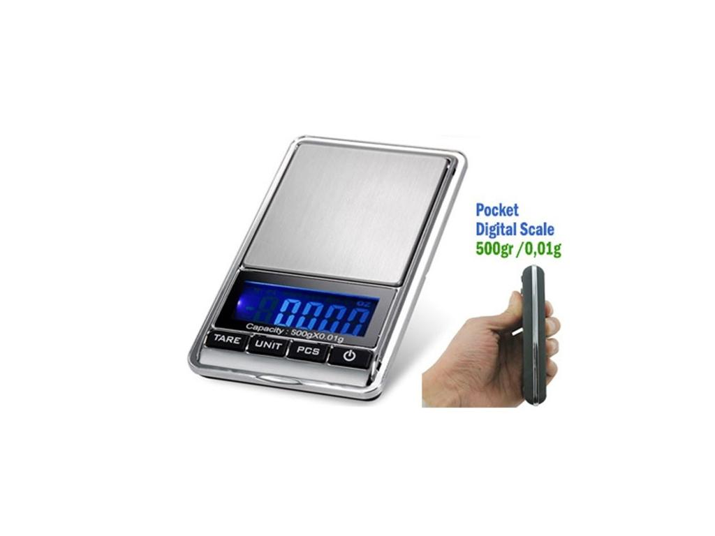 Μίνι Ψηφιακή Ζυγαριά Ακριβείας 0,01gr - 500gr DS-16 - Scale