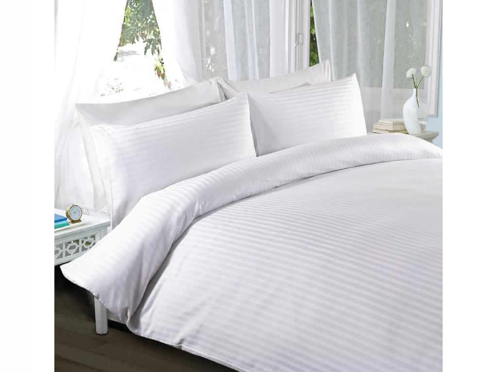 Υπέρδιπλο Σεντόνι με Ρίγα Σατέν 100% Βαμβάκι 220TC, 220x260cm - Cb λευκά είδη   μαξιλάρια και καλύμματα