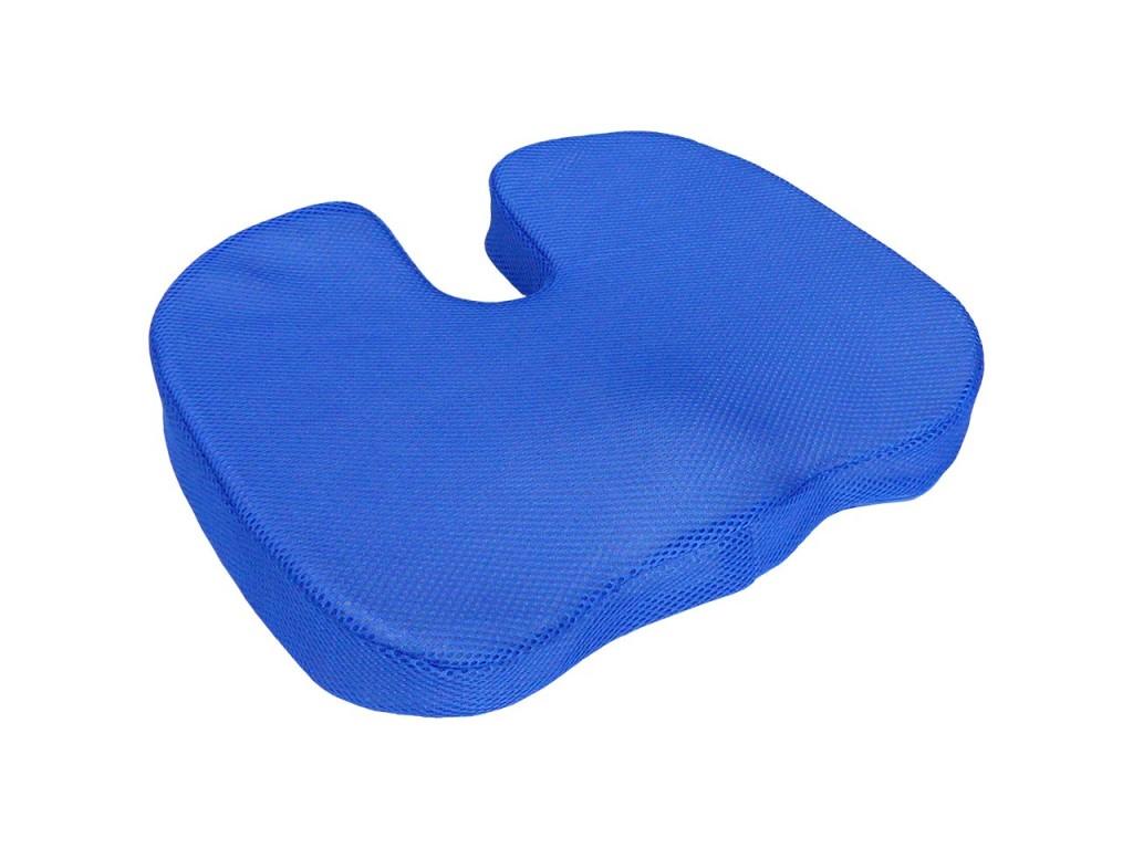 Ανατομικό μαξιλάρι καθίσματος με Memory Foam σε Μπλε χρώμα, 45x35cm, Wellys 041598 - Wellys