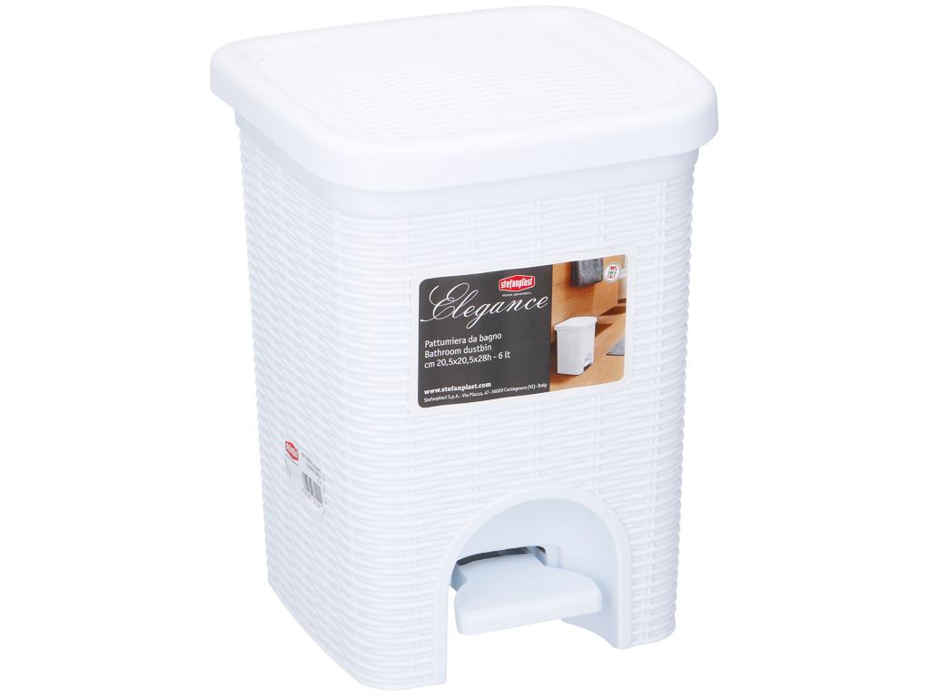 Κάδος Απορριμάτων 6 λίτρα με Πεντάλ Ιδανικός για Μπάνιο και Κουζίνα σε Λευκό χρώ κουζίνα   κάδοι απορριμμάτων κουζίνας