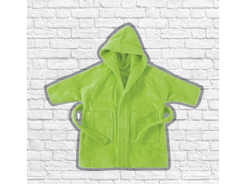 Παιδικό Μπουρνούζι Μπάνιου Πετσετέ με Κουκούλα Νο 10 σε διάφορα χρώματα, Isadore Lorraine Πράσινο - Isadore Lorraine