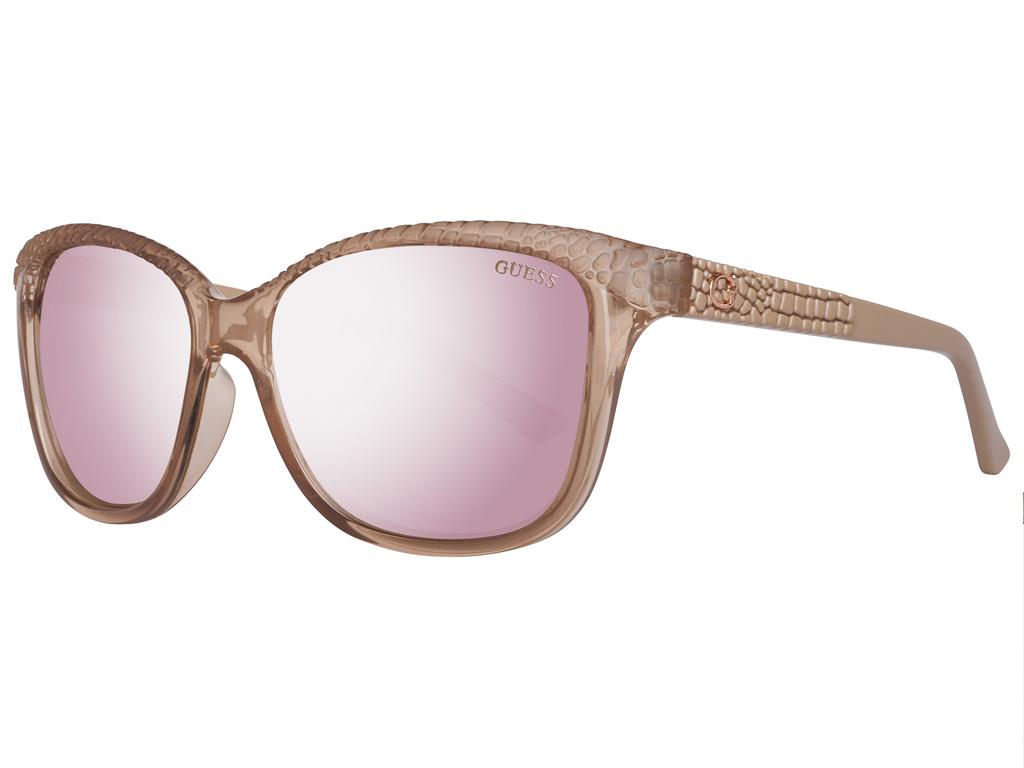 Guess Γυναικεία Γυαλιά Ηλίου με Κρεμ σκελετό, Ροζ Φακό Καθρέφτη με 100% προστασί αξεσούαρ   γυαλιά ηλίου